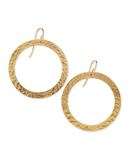 Stephanie Kantis Paris Large 24k Gold-Plated Single Round Earrings