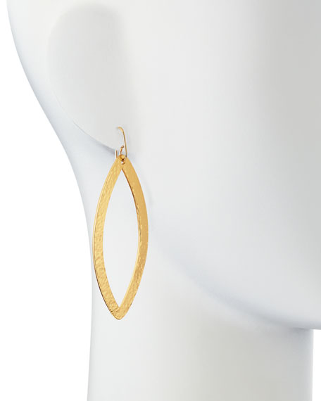 Paris 24k Gold-Plated Eye Earrings