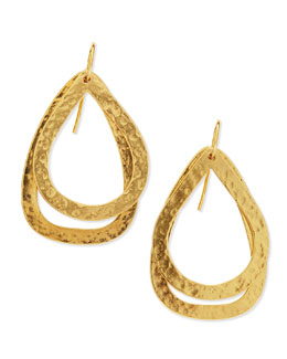 Stephanie Kantis Paris Small 24k-Gold Plated Double Teardrop Earrings