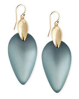 Alexis Bittar Minimalist Marquise Wire Drop Lucite Earrings, Gray/Blue