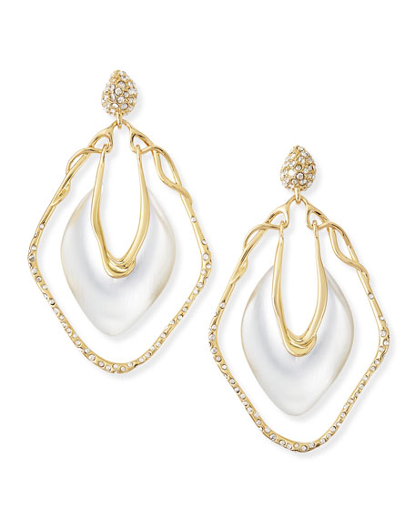 Pave Crystal Orbital Vine Earrings