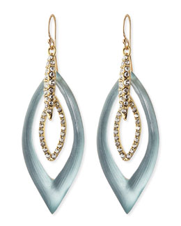 Alexis Bittar Pave Crystal Marquise Orbital Earrings, Gray/Blue