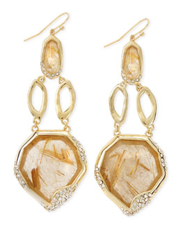 Alexis Bittar Golden Rutilated Quartz Drop Earrings