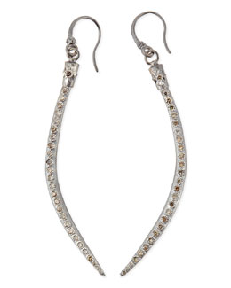 Armenta Curved Horn Earrings with Champagne Diamonds