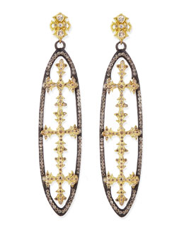 Armenta Midnight Open-Oval Cross Earrings
