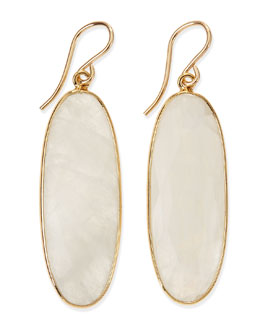 Devon Leigh Oval Moonstone Earrings