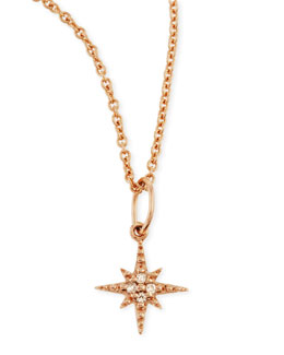 Sydney Evan 14k Rose Gold Starburst Charm Necklace