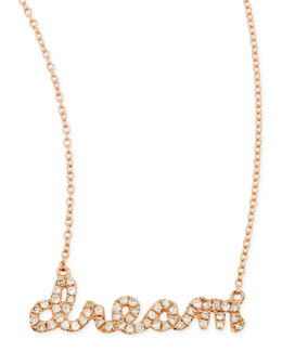 Sydney Evan 14k Rose Gold Diamond Dream Necklace