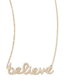 Sydney Evan 14k Yellow Gold Diamond Believe Necklace