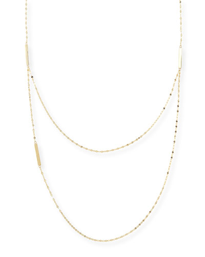 Lana 14k Yellow Gold Tri-Bar Necklace