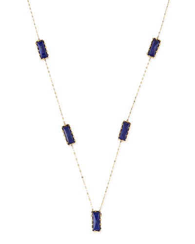 LANA Spellbound Lapis Lariat Necklace