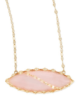 Lana 14k Pink Opal Marquise Necklace