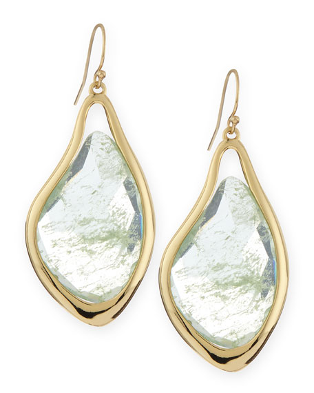 Liquid Aqua Infinity Drop Earrings