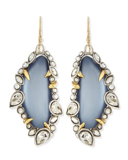 Alexis Bittar Jardin de Mystere Jagged Crystal Dangle Earrings, Steel Blue