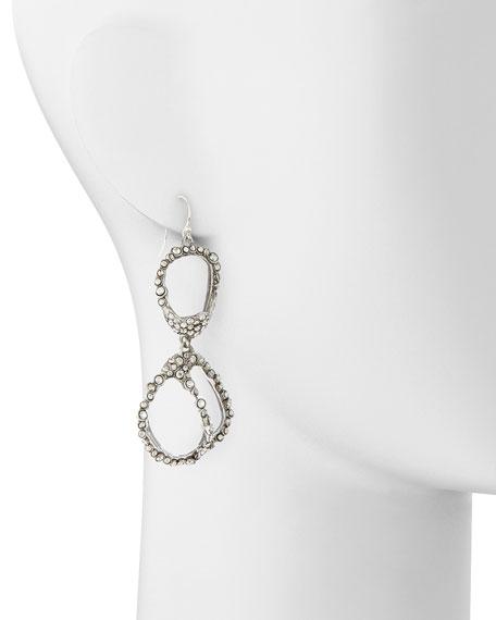 Jardin de Mystere Clear Crystal Pebble Dangle Earrings