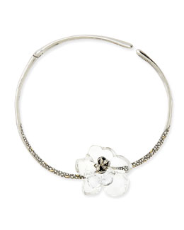 Alexis Bittar Clear Crystal Gardenia Necklace