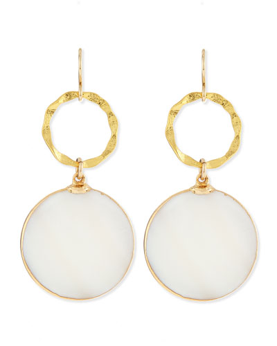 Devon Leigh Mother-of-Pearl & Gold Foil Earrings
