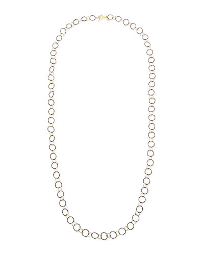 Armenta Midnight Silver & 18k Yellow Gold Link Necklace, 34""