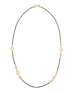 Armenta Champagne Diamond Cravelli Midnight Chain Necklace, 24""