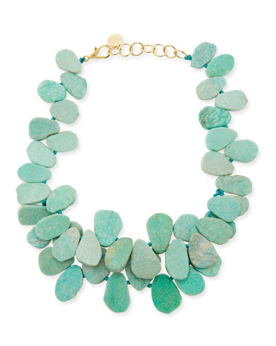 Nest Clustered Amazonite Necklace