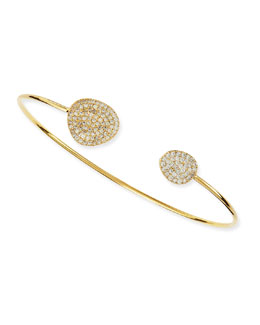 Tai Mini Pinch Bracelet Cuff with Pave Tips