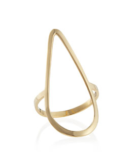 Lana 14k Yellow Gold Pear Ring