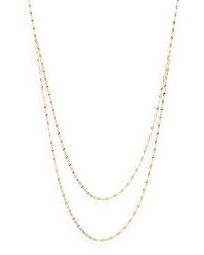 Lana 14k Yellow Gold Wave Necklace