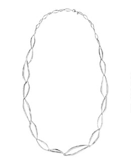 Alexis Bittar Miss Havisham Liquid Crystal-Encrusted Infinity-Link Necklace, 42""