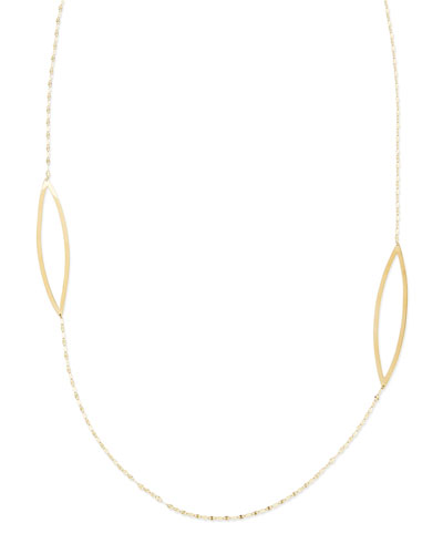 LANA 14k Yellow Gold Vault Necklace