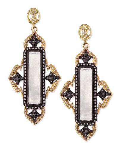 Armenta Old World Midnight & Gold Moonstone Earrings