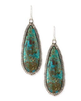 Alexis Bittar Elements Cholulian Blue Green Chrysocolla Teardrop Earrings