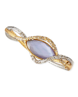 Alexis Bittar Woven Crystal Vine Iolite-Colored Glass Bracelet