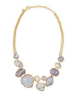 Alexis Bittar Blue Chalcedony & Iolite-Colored Glass Necklace