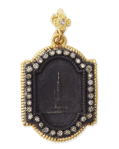 Armenta Midnight & Yellow Gold Basilica Enhancer with Diamonds