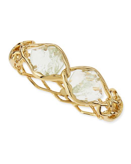 Alexis Bittar Miss Havisham Aqua Barbed Hinge Bangle