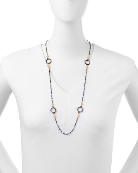 "Midnight Heraldry Necklace with Diamonds, 31"""
