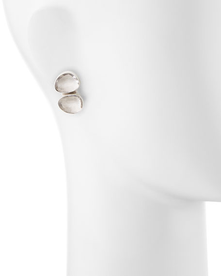 Double Rock Crystal Earrings