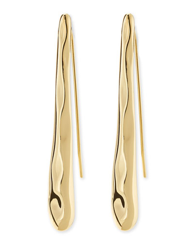 Alexis Bittar Golden Drippy Twig Earrings
