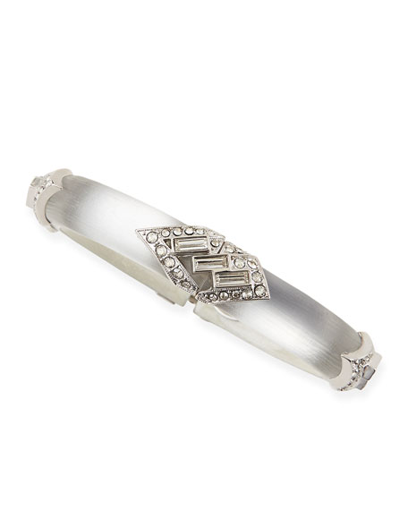 Neon Deco Architectural Lucite Bracelet, Silvery