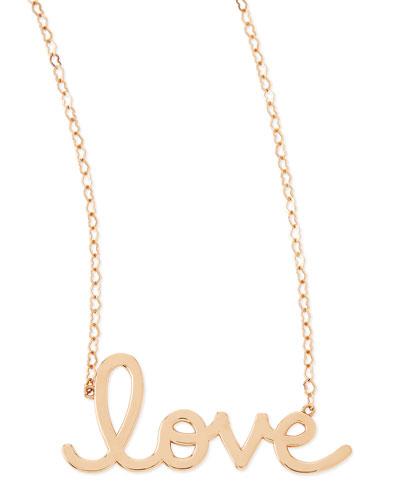 Sydney Evan 14k Rose Gold Pure Love Necklace