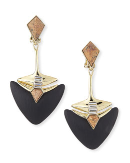 Alexis Bittar Kinshasa Lucite, Jasper, and Crystal Clip-On Earrings