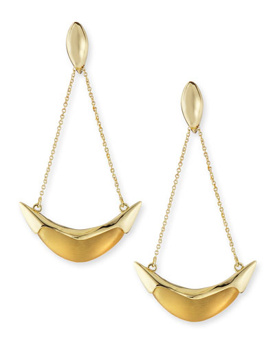 Alexis Bittar Kinshasa Liquid Metal-Capped Suspended Earrings