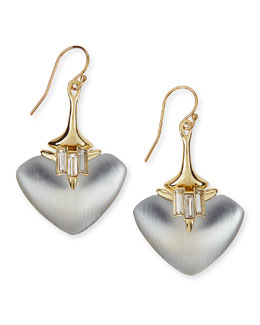 Alexis Bittar Kinshasa Liquid Metal, Baguette, & Lucite Earrings