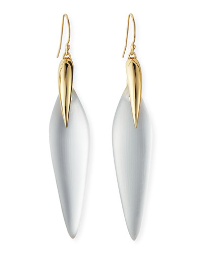 Alexis Bittar Kinshasa Claw-Capped Spear Silhouette Drop Lucite Earrings