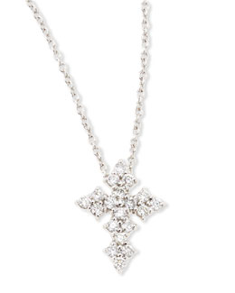 Roberto Coin 18k White Gold Diamond Cross Necklace