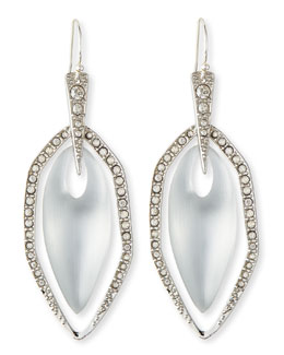 Alexis Bittar Neon Deco Silvertone Crystal-Embellished Lucite Earrings