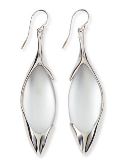 Alexis Bittar Liquid Metal & Lucite Drop Earrings, White