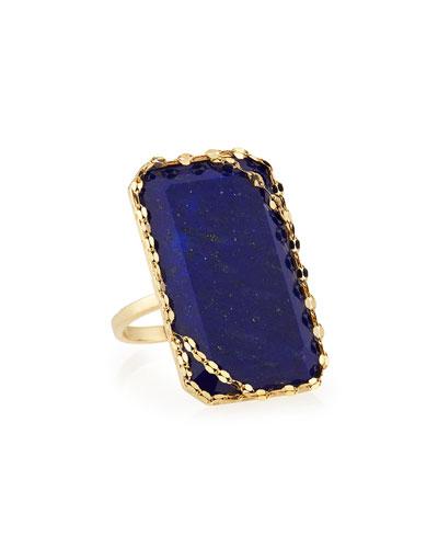 LANA Lapis Splash 14k Gold Cocktail Ring