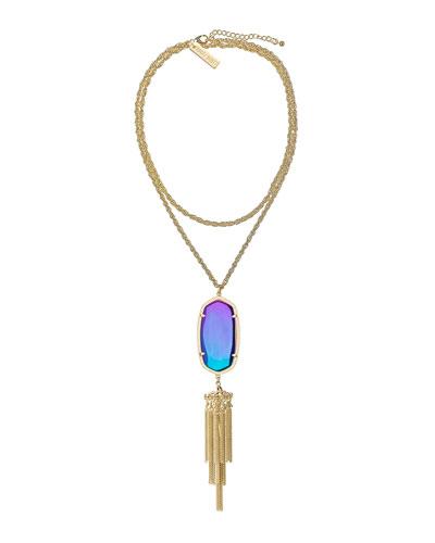 Kendra Scott Rayne Pendant Necklace, Black Iridescent