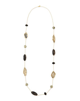 "Alexis Bittar Crystal Lace Multi-Stone Station Necklace, 44""L"